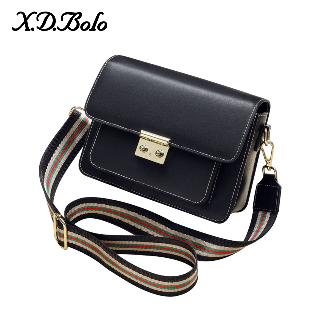 XDBOLO 2019 Fashion Women Bag Leather Handbags Genuine Leather Shoulder Bag Small Flap Crossbody Bags For Women Messenger Bags