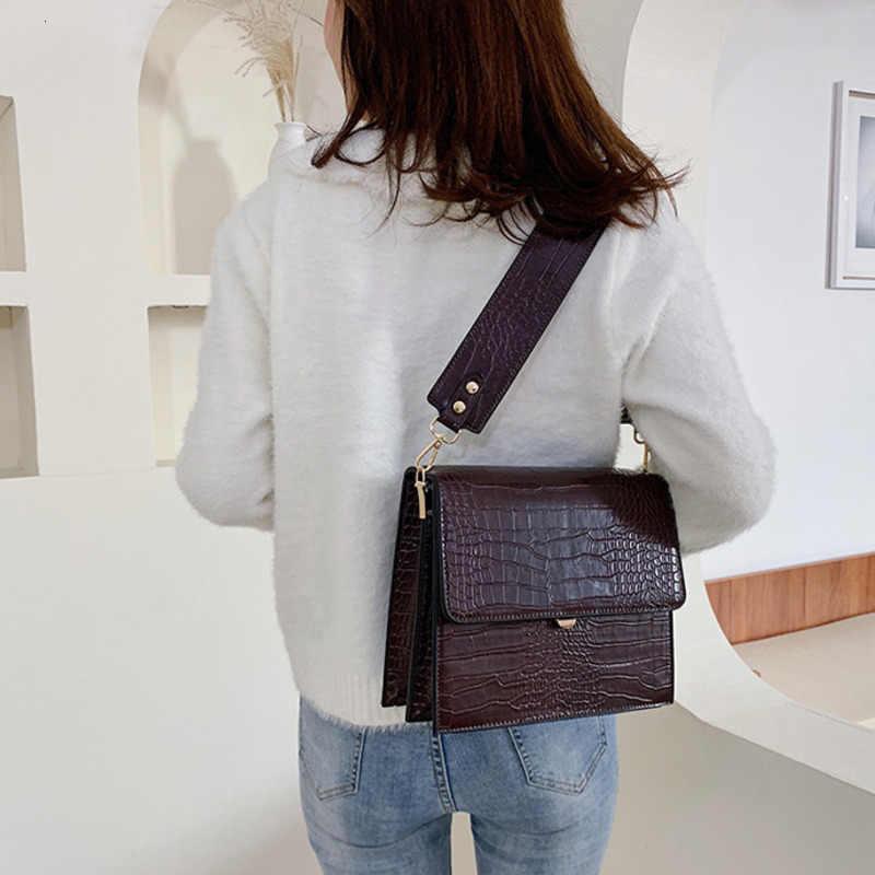 [BXX] Batu Pola PU Kulit Tas Selempang untuk Wanita 2020 Musim Gugur Merek Desain Bahu Messenger Tas Wanita Tas Tangan HI917