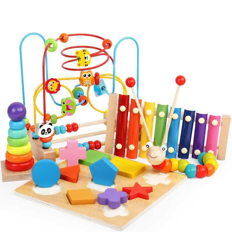 Bead-stringing Toy Toy Large Size 10-11 Month Baby Boy 1-3 A Year Of Age GIRL'S Beaded Bracelet Toy Building Blocks 2 Educationa