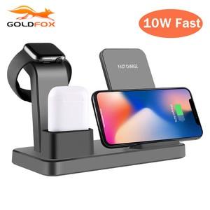 Image 1 - Bezprzewodowa ładowarka Qi uchwyt do telefonu iphone Samsung szybkie bezprzewodowe ładowanie do airpods do apple watch 4 3 2 1 ładowarka