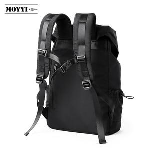 Image 4 - MOYYI 새로운 패션 남자 배낭 학교 가방 남자 여행 가방 대용량 여행 방수 14 15.6 인치 노트북 배낭