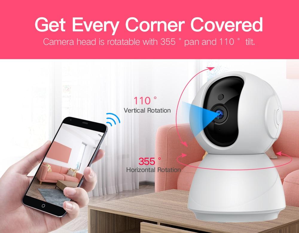H8948b99e2106466fa31fd4644411b25ch SDETER 1080P 720P IP Camera Security Camera WiFi Wireless CCTV Camera Surveillance IR Night Vision P2P Baby Monitor Pet Camera