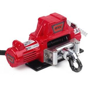 Image 5 - 1Pcs Mini Gesimuleerde Staaldraad Automatische Elektrische Lier Zwart/Rood/Grijs Voor 1/10 Rc Crawler Traxxas TRX4 axiale SCX10 90046 D90