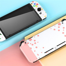 Sakura Pink DIY Controller Protective Case for Nintend Switch Joy-Con Game Console Back Cover Hard Shell Accessories(China)
