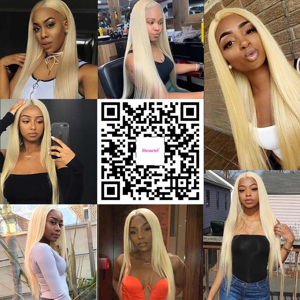 Perruque lace front wig sans colle naturelle brésilienne remy | Cheveux lisses, blond 613, 13x4, pre-plucked