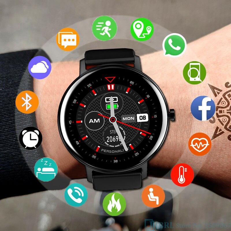 2020 novo relógio inteligente mulheres homens smartwatch rastreador de fitness bluetooth à prova dip68 água ip68 relógio eletrônico para android ios smart-watch