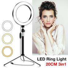 Dimmable Photography LED Selfie Ring Light With Stand Youtube Video Live Photo Studio Light Makeup Video Studio Tripod Ring Lamp photography dimmable 7 inch led selfie ring light youtube video live photo studio 2800 5500k camera light usb plug with tripod