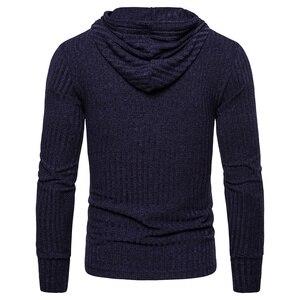 Image 5 - NEGIZBER New Spring Mens Sweatshirts Solid Casual Hoody Men Elasticity Slim Fit Pullover Hoodies Men Streetwear Sporting Hoodies