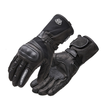 Touchscreen Leather Motorcycle Gloves Racing Gloves Waterproof Windbreak Protect Warm Winter Racing Touch Screen Long Glove