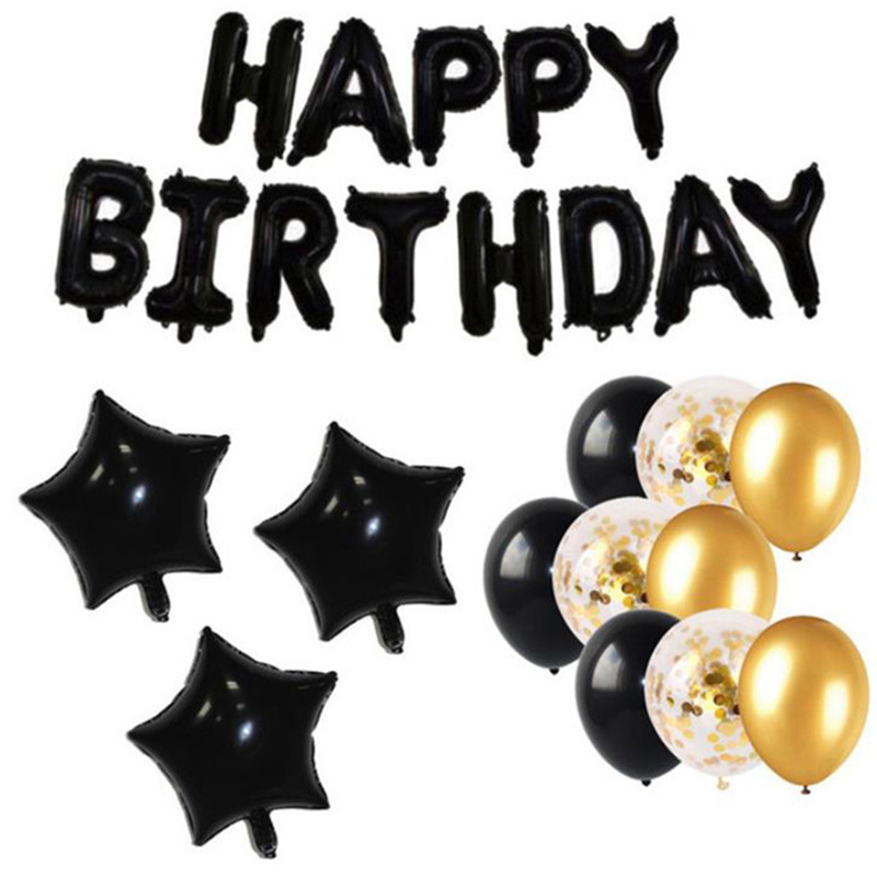 Black Star Theme Baby Party Decorations Set Newborn Baby Boys Girls Birthday Party Baby Shower Party Children's Day