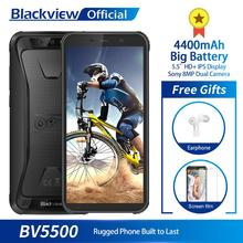 """Blackview BV5500 IP68 防水携帯電話MTK6580P 2 ギガバイト + 16 ギガバイト 5.5 """"18:9 画面 4400 3000mahのアンドロイド 8.1 デュアルsim頑丈なスマートフォン"""