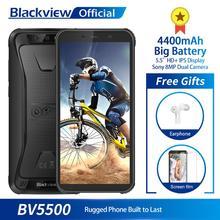 """Blackview BV5500 IP68 مقاوم للماء الهاتف المحمول MTK6580P 2GB + 16GB 5.5 """"18:9 شاشة 4400mAh أندرويد 8.1 المزدوج سيم هاتف ذكي متين"""