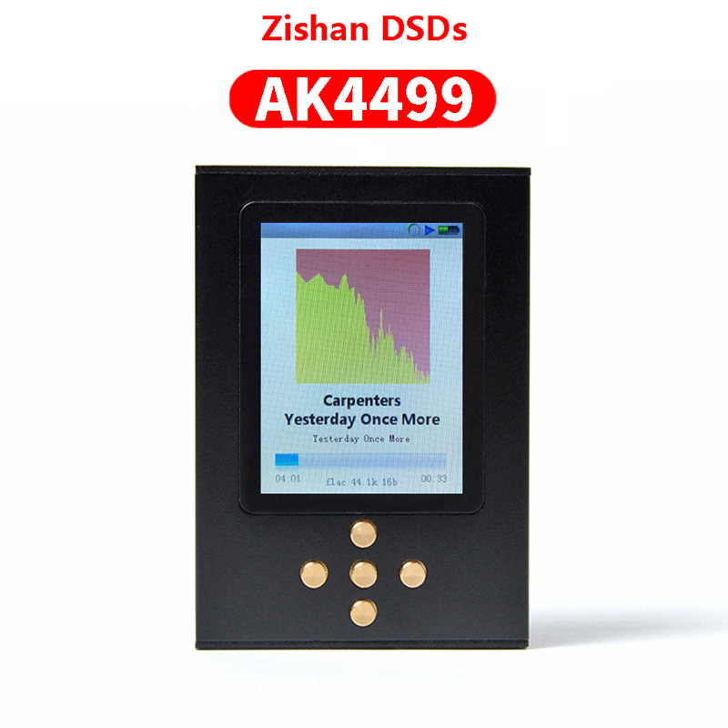 NICEHCK Zishan DSDs AK4499 Version Professional Music Player MP3 DAP AD8620 MUSES02 HIFI Portable 2.5mm Balanced AK4499EQ 4499MP3 Player   -