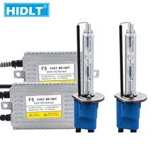 HIDLT 1 Set AC 55W F5 DLT Ballast Car Headlight HID Kit 5500K White Super Bright H1 H3 H7 H11 9005 9006 9012 D2H Xenon HID Bulbs