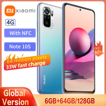 Xiaomi Redmi Note 10S Smartphone Global Version 6GB 64GB 64MP Quad Camera Helio G95 AMOLED Full Screen 33W Fast Charge With NFC