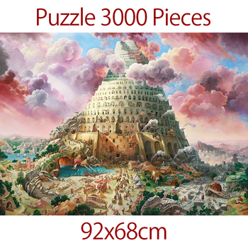 Jigsaw Puzzle 92x68 cm Puzzle 3000 Pieces For Adult Challeng Puzzle children toys Gift Tower of Babel educational puzzle game fenglaiyi diy tetris puzzle retro style game tower baby colorful brick creative puzzle led night light children gift lamp