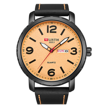 2019 luxury Fashion Business Week Wrist Watch Men Classic Genuine Leather Quartz Watch Day Date Clock Mens Watch Relojes Hombre original fashion weide watch mens sport watch men digital quartz led week day date watch silicone band wristwatches clock gift