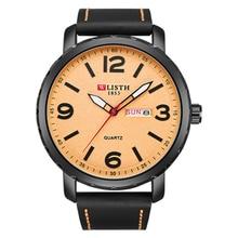 2019 luxury Fashion Business Week Wrist Watch Men Classic Genuine Leather Quartz Watch Day Date Clock Mens Watch Relojes Hombre стоимость