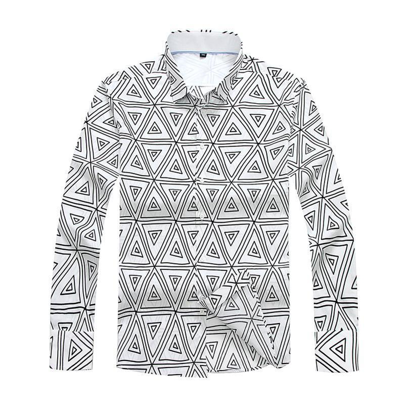 Big Size Man Casual Shirts Solid Fashion Classic Men Dress Shirt Breathable Men's Long Sleeve Plus Size 8XL 7XL 6XL 5XL