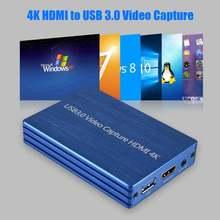 Карта видеозахвата 4k hdmi к usb 30 obs live stream dongle 1080p