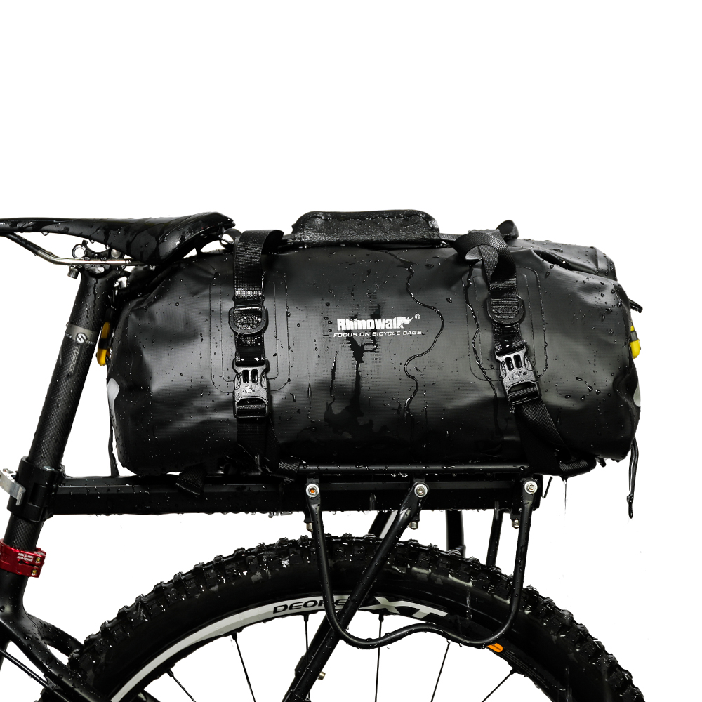 Rhinowalk 20L Waterproof Pannier Bag Multifunctional Bike Bag High Capacity Bicycle Bag Shoulder Bag Bike Accessory