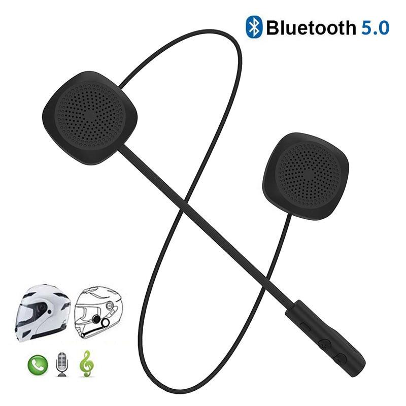 Dual Visor Motorcycle Helmet Headset Bluetooth 5.0 EDR Headphones Microphone Bicycle Helmet Earphone Handsfree Speaker Call