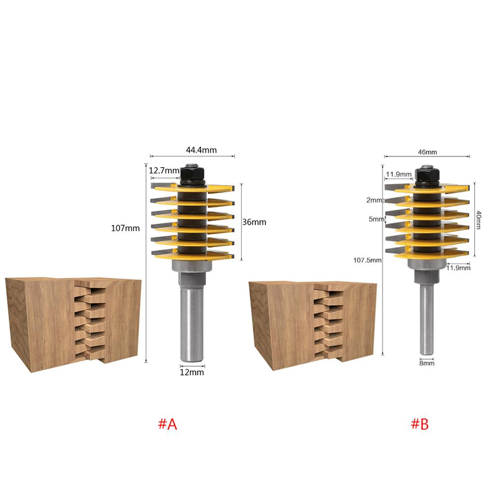"""1//2/"""" Shank Tenon Finger Joint Wood Router Bit Woodworking Milling Cutter Tool"""