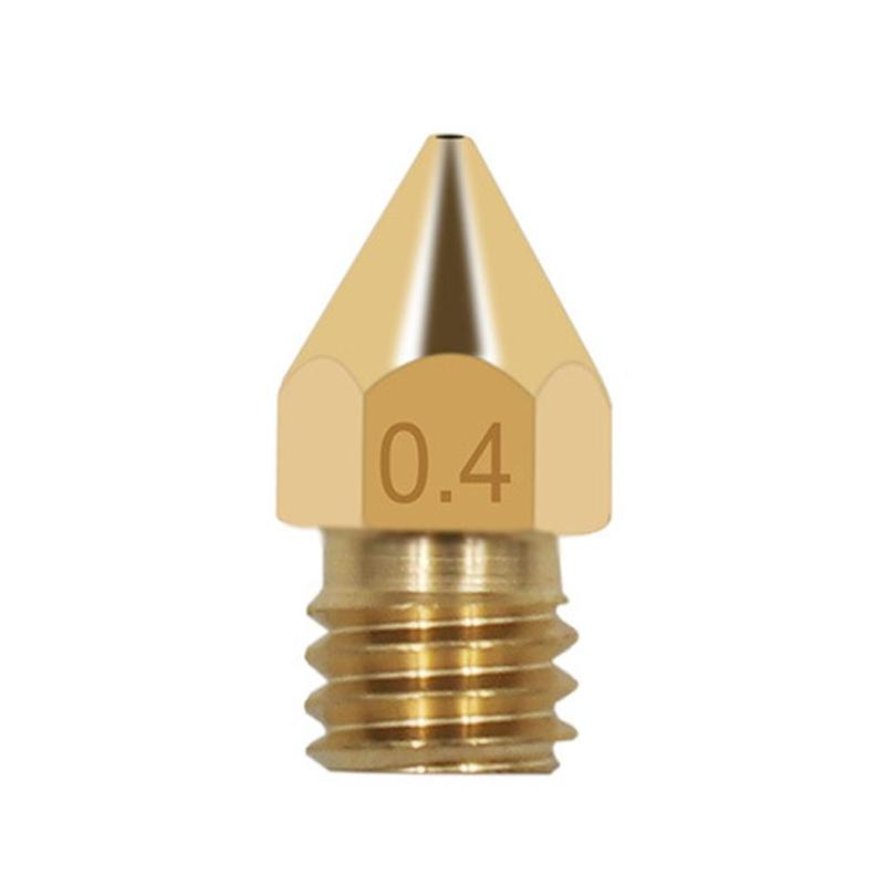 1.75 Supplies/0.4mm - Single 3d Printer Accessories Mk8 Tip Brass Nozzle Sub Surface Engraving Print Accessories
