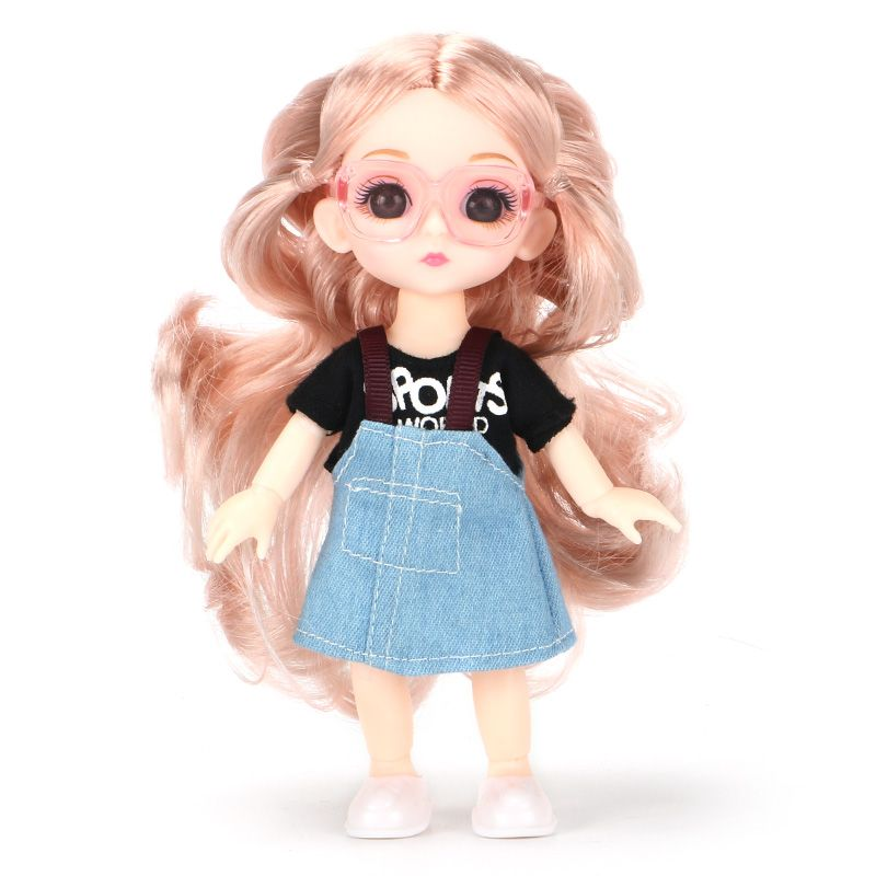 6inch Princess Girl Doll bjd Boneca Dolls normal/joint body Ball Jointed Reborn Glasses Dolls Toys Clothes Shoes Gift For Girls 11