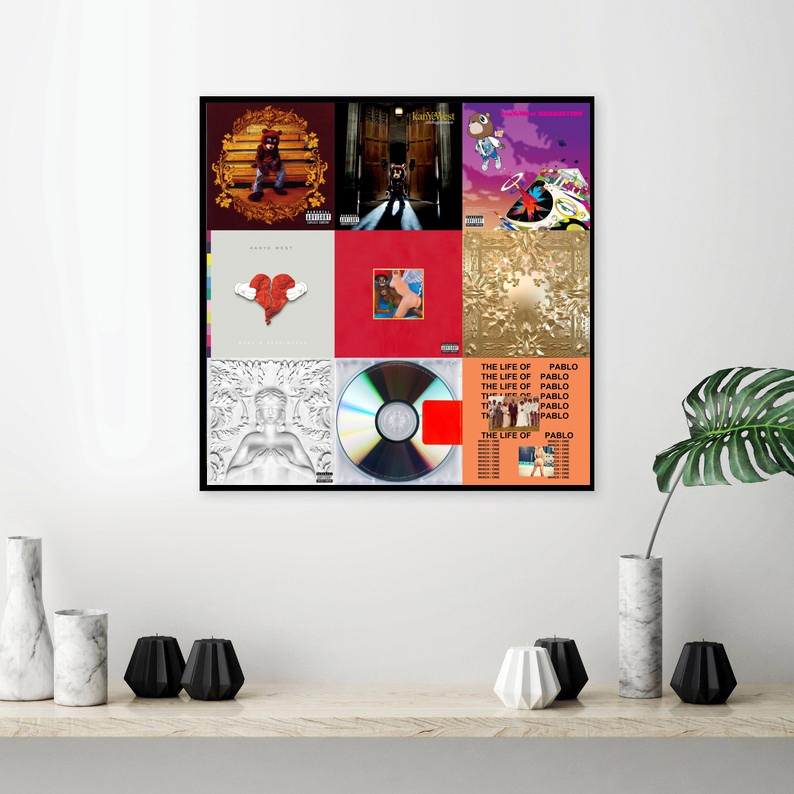 Kanye West Rap HipHop Album Music Art Poster Canvas Painting Print Wall Art Decor Dropshipping image