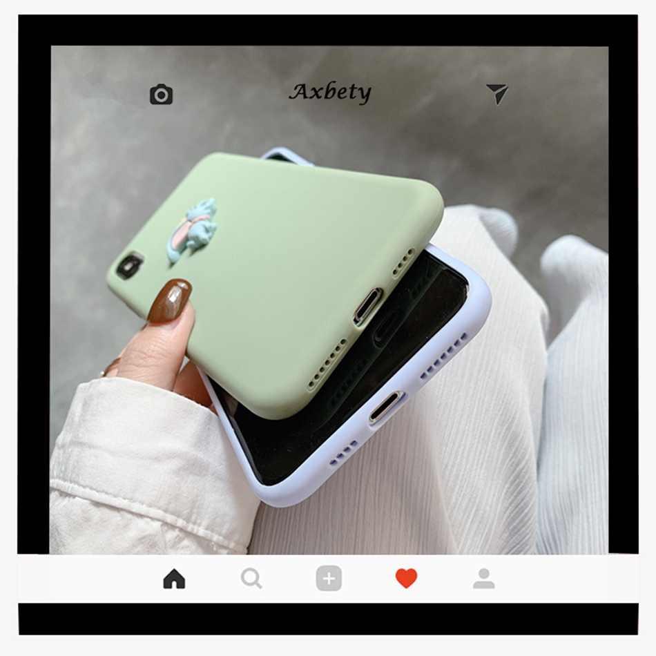 Cho Iphone 11 XR 11 Pro XS Max Ốp Lưng 3D Hoạt Hình Dễ Thương Kawaii Tai Voi Tự Làm Ốp Lưng Cho iPhone 7/8/SE 6 6 Plus Đáng Yêu Mềm Mại Ốp Lưng Silicon