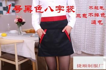 Отель шеф-повара рабочая одежда ресторан официант половина-длина маленький фартук половина длины короткий фартук хлопок мужчины и женщины