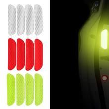 Adesivos refletores abertos para carro, 4 unidades, marca de aviso da porta, crv, reflexivo de segurança mark mark