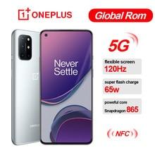 Küresel Rom Oneplus 8 T 8 T SmartPhone 120Hz sıvı AMOLED ekran Snapdragon 865 Octa çekirdek 65W çözgü şarj bir artı cep telefonu