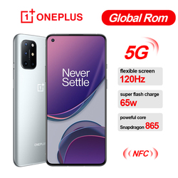 Global Rom Oneplus 8T 8 T SmartPhone 120Hz Fluid AMOLED Display Snapdragon 865 Octa Core 65W Warp Charge One plus Mobile Phone