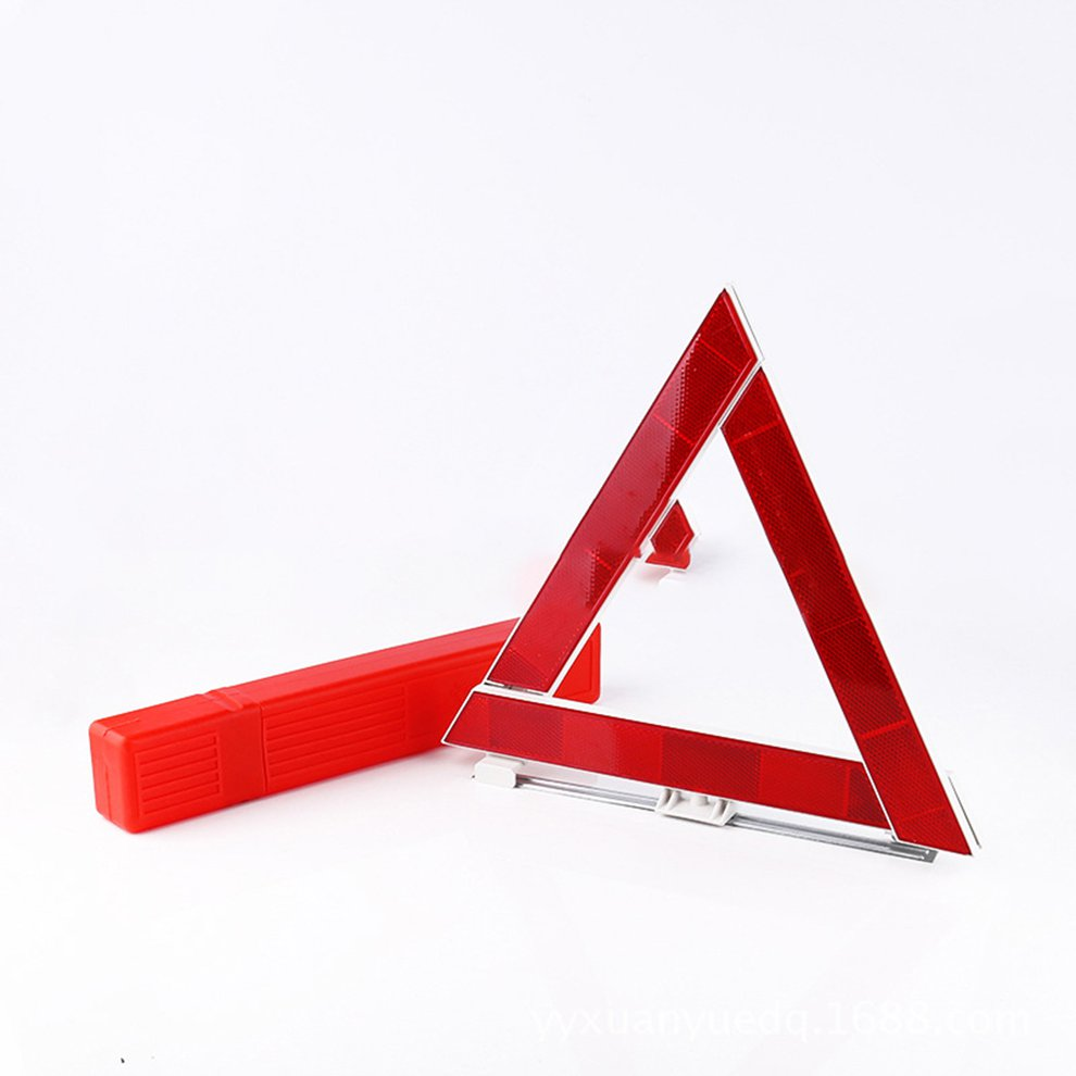 Practical Car Triangle Sign Emergency Warning Foldable Reflective Tripod