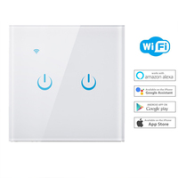 Wall Wifi Smart Light Touch Switch Control US Standard Work with Alexa Google Home 1/2/3 Gang Switch Panel Wireless Intelligence