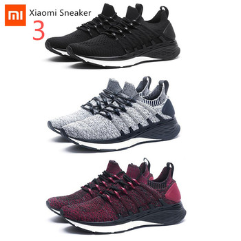 Original XiaoMi Mijia Shoes 3 3th Men Sport Sneakers Comfortable Breathable Light Shoes Sneaker 3 For Outdoor Sports Smart Shoes original xiaomi mijia freetie ultra light running shoes men s city sneaker air mesh breathable eva sole stylish casual shoes