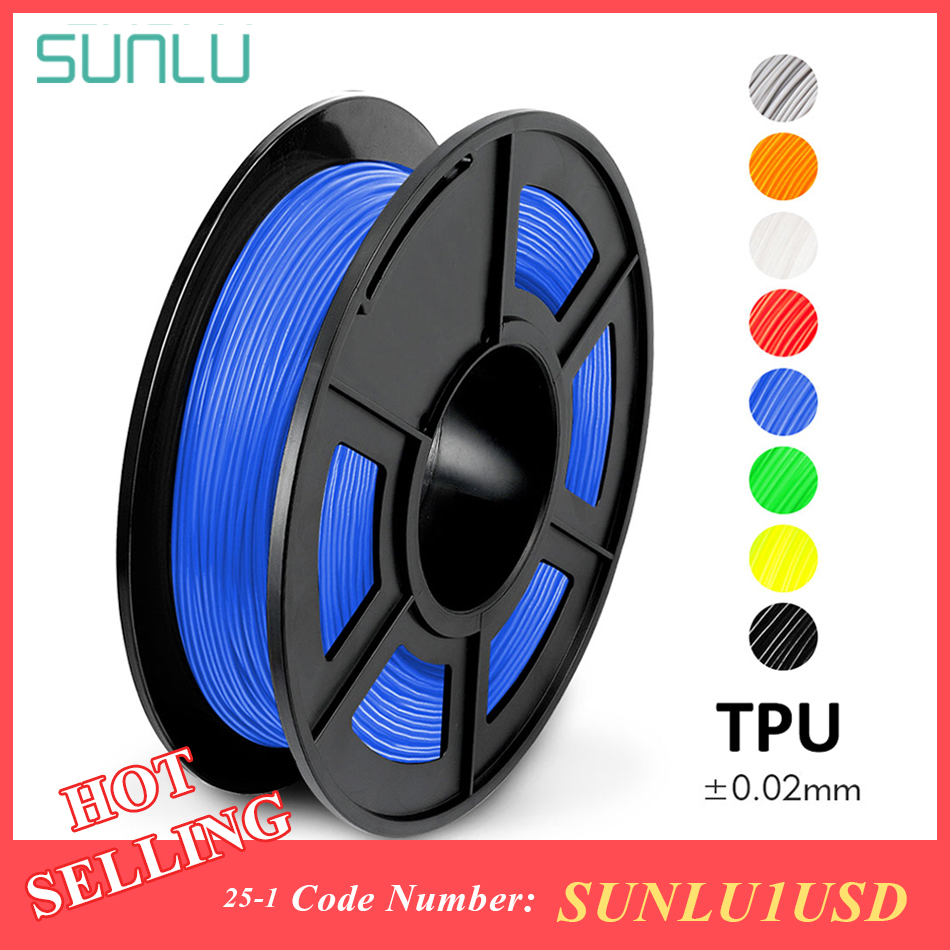 1.75mm Flexible TPU 3D Printing Filament Dimensional Accuracy +/- 0.02mm Children Shoes And Toys TPU Flexible Filament