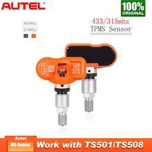 Autel tpmsセンサー433mhz mxセンサー433mhz tpmsセニョールinternoサポートタイヤ圧力プログラミングモニター315mhz 433 433mhzのセンサー
