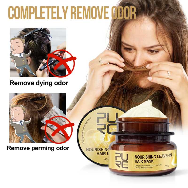 PURC Nourishing Leave-In Hair Mask Completely remove odor Lasting moisture shine Hair Treatment 11.11