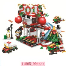 2019 New Christmas Sets Village Train Hot Air Balloon legoinglys City Creator Village House Train Balloon Santa Crystal Legoinglys Model Building Blocks Bricks Toys Gift Christmas(China)