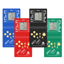 Tetrisมือถือเกมผู้เล่นLCDเกมอิเล็กทรอนิกส์ของเล่นพ็อกเก็ตคอนโซลเกมคลาสสิกในวัยเด็กสำหรับของขวัญ