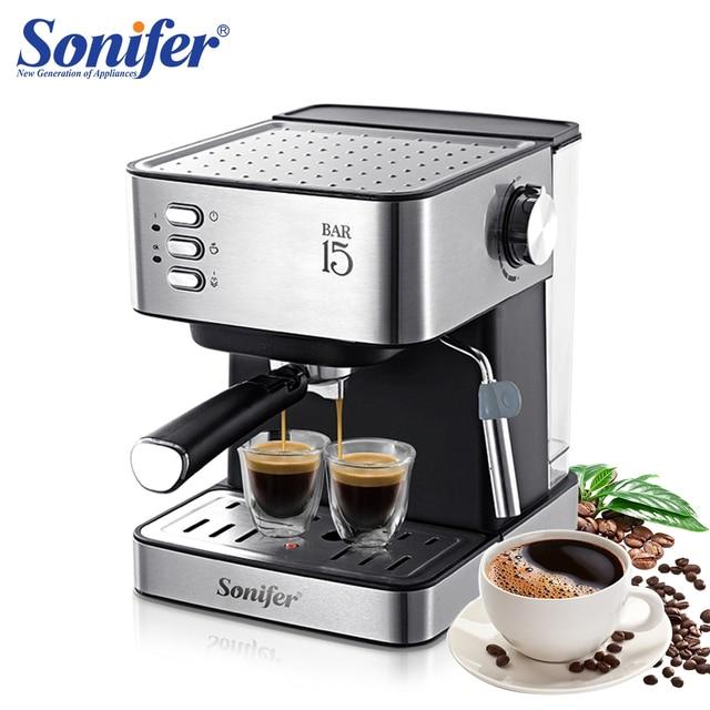 1.6L Electric Espresso Coffee Machine Coffee Grinder 15 Bar Express Electric Foam Coffee Maker Kitchen Appliances Gift Sonifer