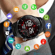 Top 2021 inteligentny zegarek mężczyzn mężczyzna Smartwatch elektronika inteligentny zegar dla Android IOS opaska monitorująca aktywność fizyczną nowy dotykowy Bluetooth inteligentny zegarek