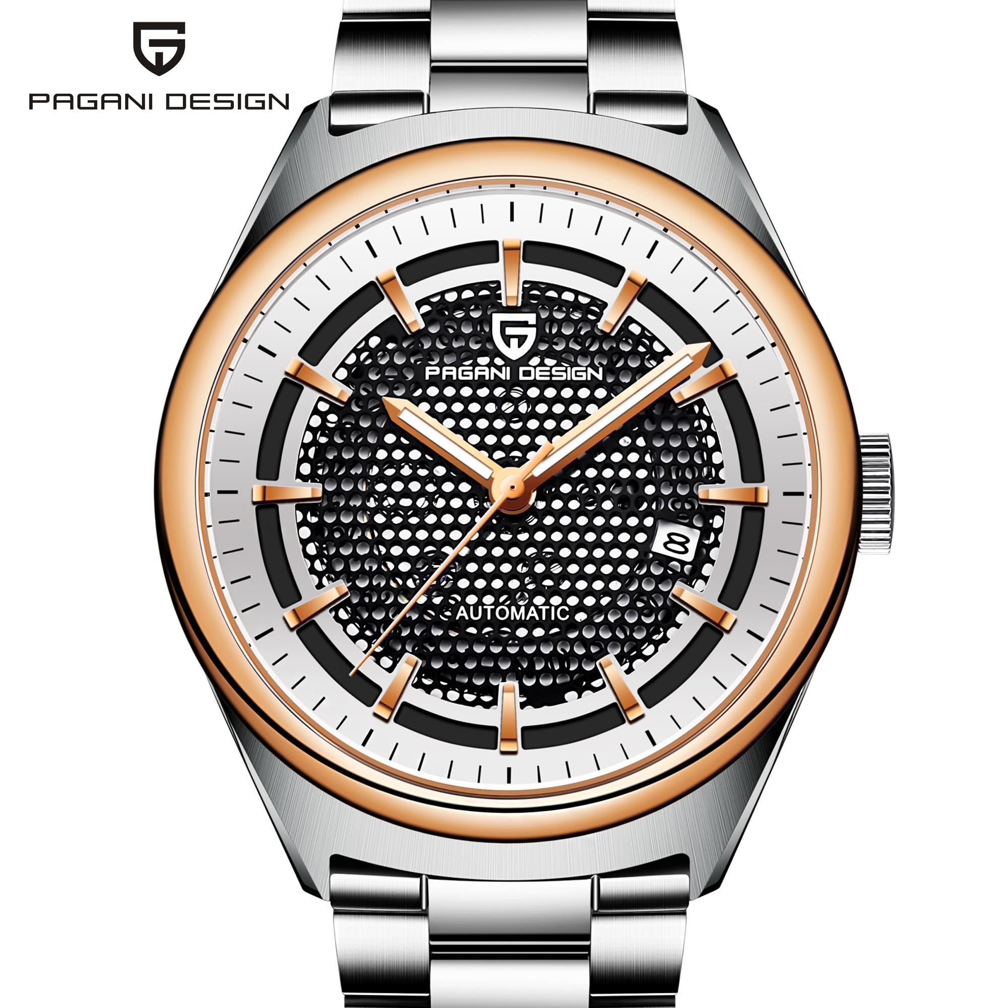 PAGANI DESIGN Automatic Seagull 2813 Movement Mens Mechanical Watch Stainless Steel Business Waterproof Clock Relogio Masculino