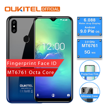 OUKITEL C15 Pro Android 9.0 Mobile Phone 3GB 32GB MT6761 Fingerprint Face ID 4G LTE Smartphone 2.4G/5G WiFi Waterdrop Screen(China)