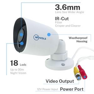 Image 3 - Камера видеонаблюдения Movols, AHD/TVI/CVI/аналоговая 4 в 1 с ночным видением, 60 футов, Кабель BNC и DCplug для системы DVR
