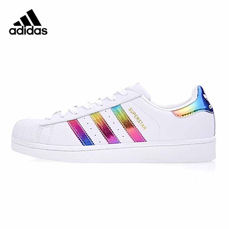 Original authentique Adidas SUPERSTAR Shamrock hommes et femmes unisexe skateboard classique chaussures léger résistant à l'usure S81015
