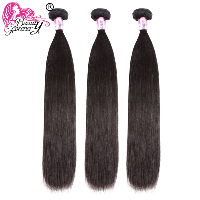 BEAUTY FOREVER Malaysian Straight Human Hair Weaves 100% Remy Hair Weft 3 Bundles 8-30inch Natual Color Free Shipping